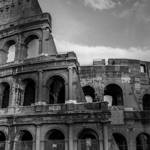 """Colosseum in Black & white"" stock image"