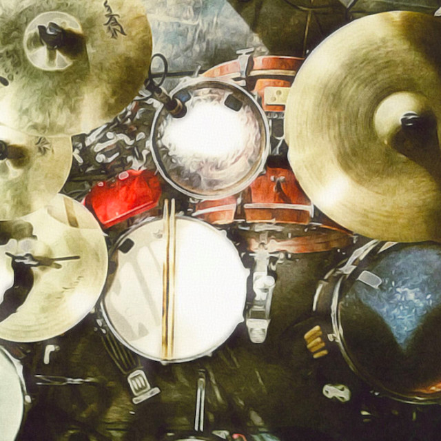 """""""Painted drums"""" stock image"""