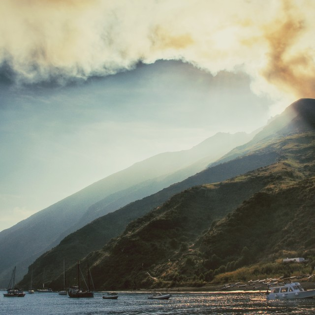 """Mt. Stromboli"" stock image"