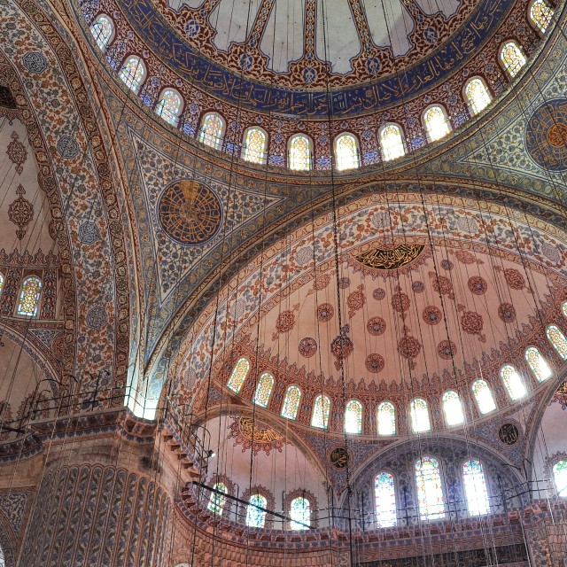 """Sultan Ahmed Mosque ceiling"" stock image"