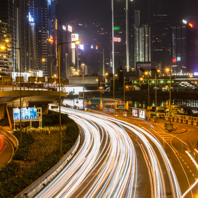 """High Way long exposure"" stock image"