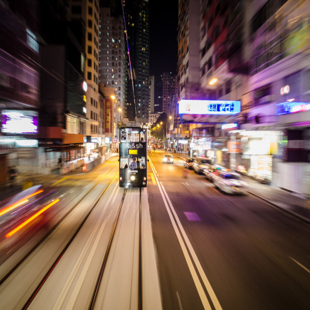"""Hong Kong Tram"" stock image"