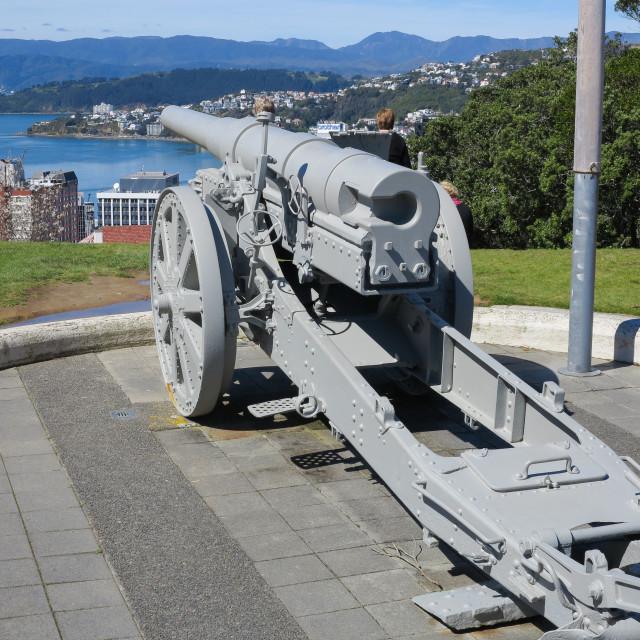 """""""Krupp field gun"""" stock image"""