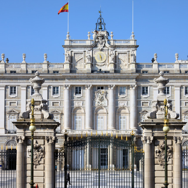 """Royal Palace in Madrid"" stock image"