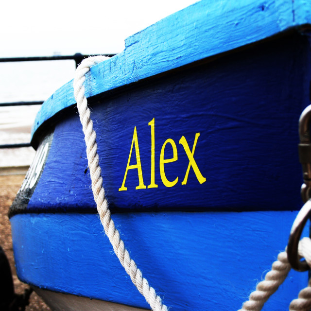 """A Boat Called Alex"" stock image"