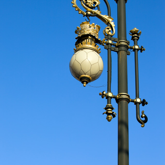 """Ornate Street Lamp"" stock image"