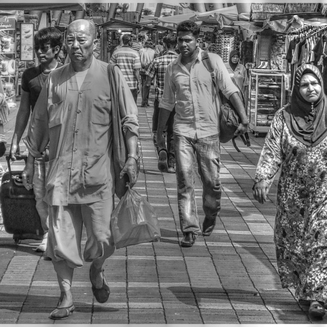 """Malaysian street life"" stock image"
