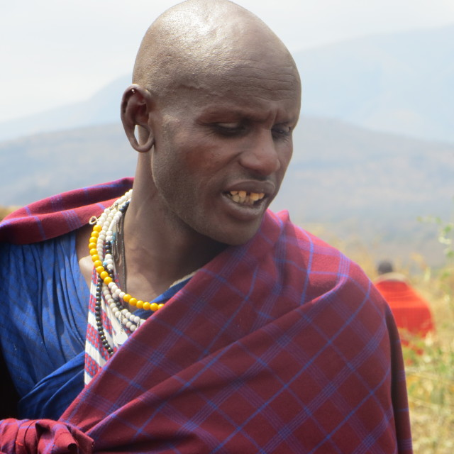 """Masai warrior"" stock image"