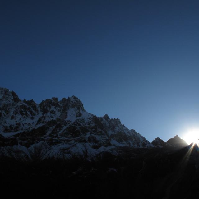 """""""Himalayas sunrise"""" stock image"""