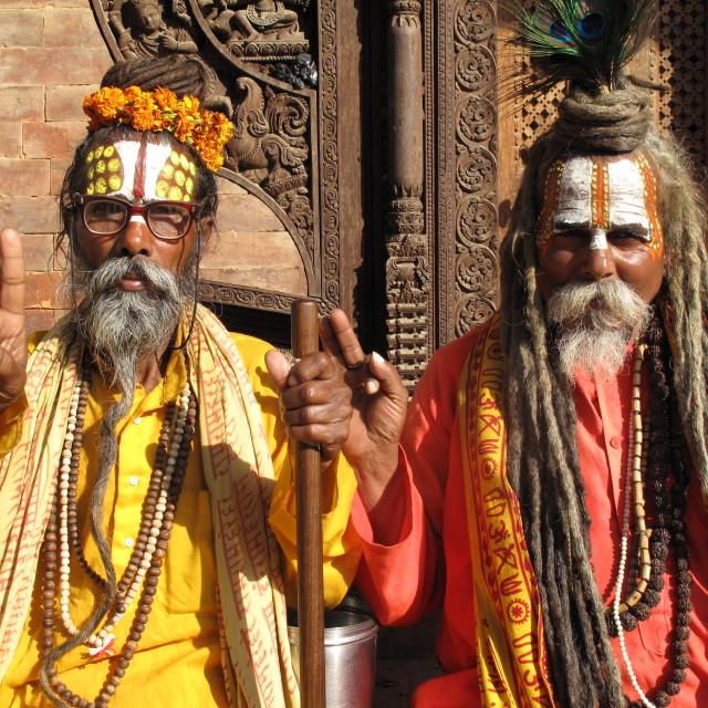 """""""Nepal Hinduism Buddhism"""" stock image"""