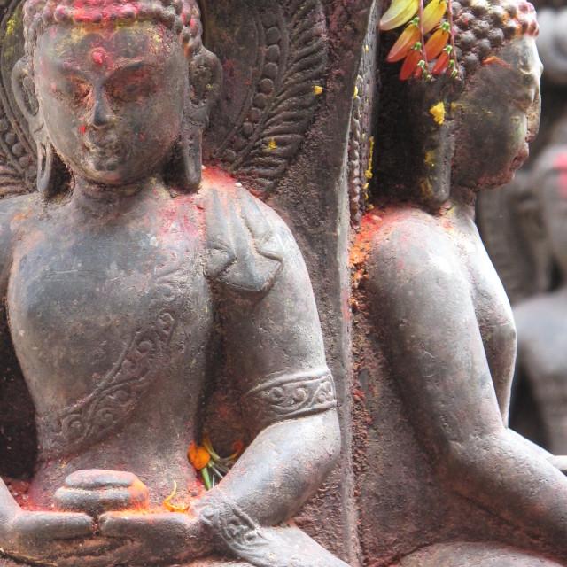 """Nepalese Buddhist statue"" stock image"