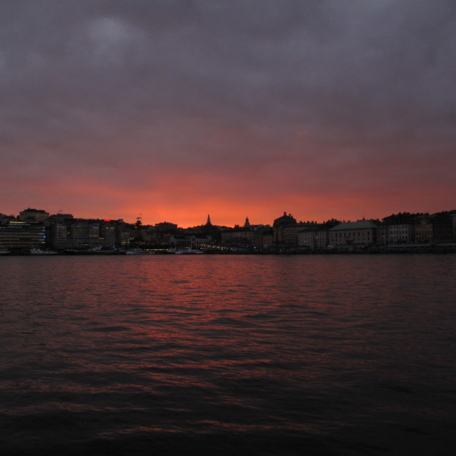 """Stockholm sunset city (1)"" stock image"