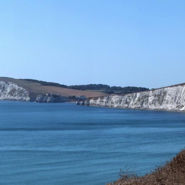 """Tennyson Chalk Cliffs"" stock image"