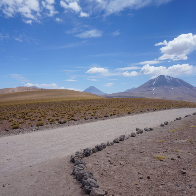 """The Road to Atacama"" stock image"