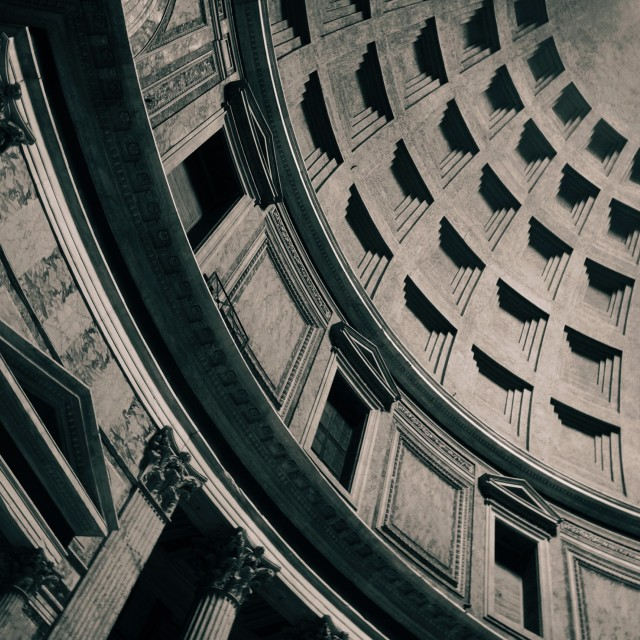 """Inside the Pantheon"" stock image"