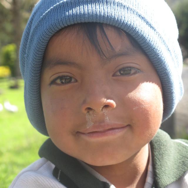 """""""Ecuador boy"""" stock image"""