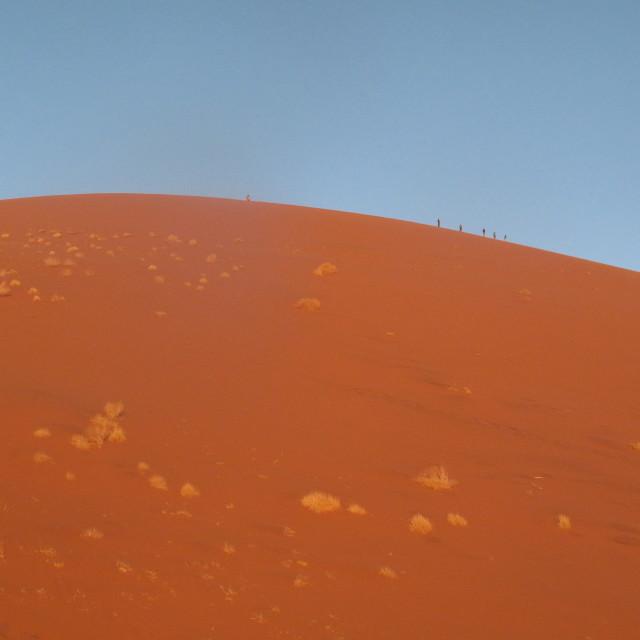 """""""Sand Dunes Namibia"""" stock image"""