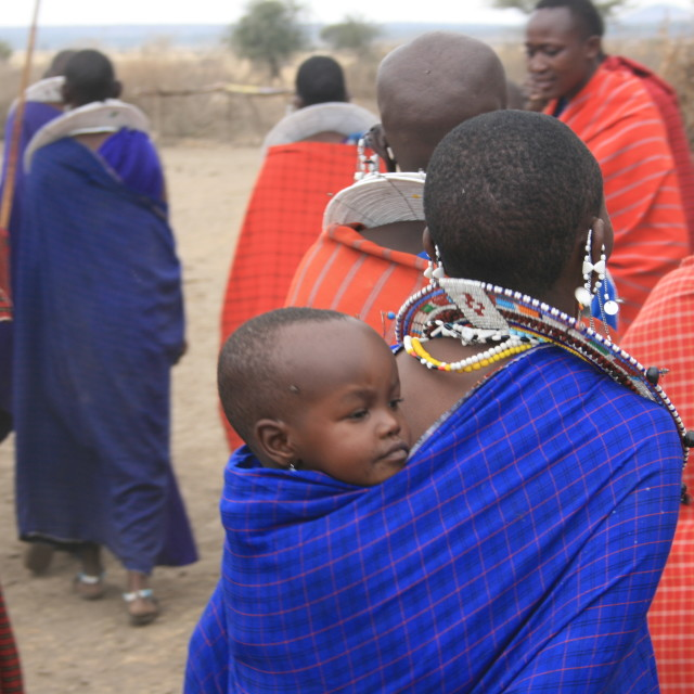 """Masai parent and child"" stock image"