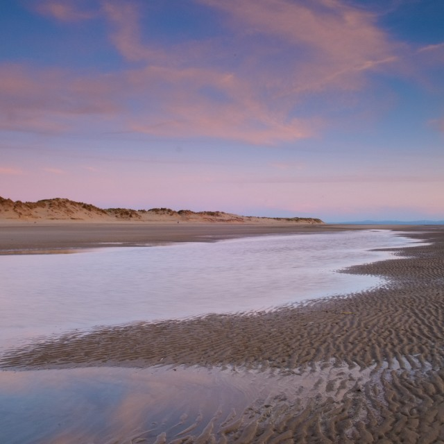 """Low Tide at Twilight"" stock image"