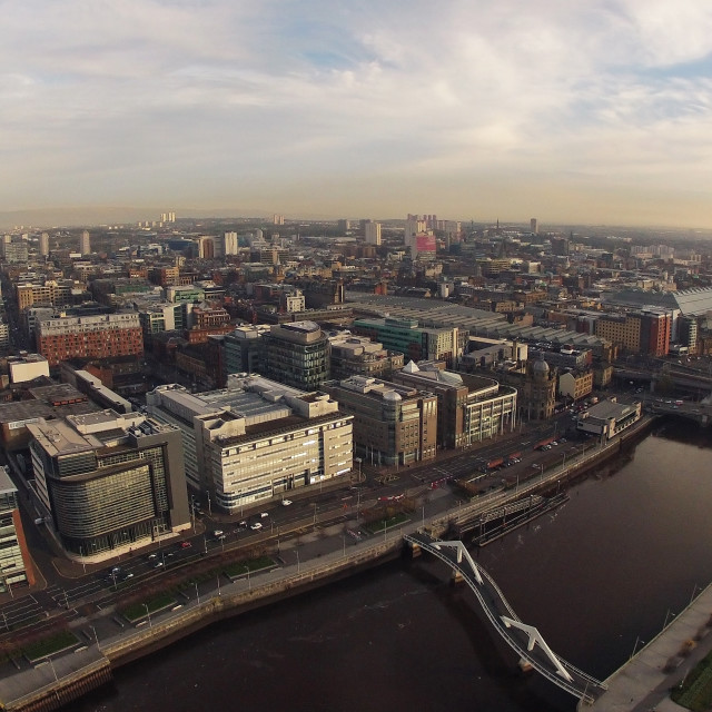 """Glasgow from the air"" stock image"