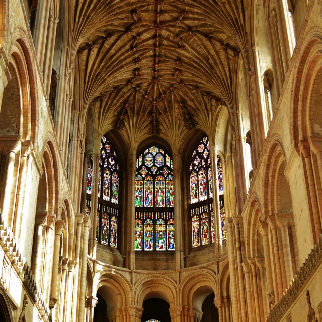 """""""Norwich Cathedral"""" stock image"""