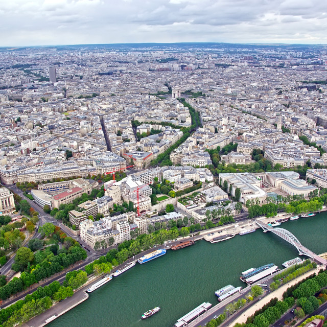"""Up view of Paris"" stock image"