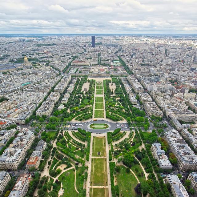 """""""Panoramic view of paris"""" stock image"""