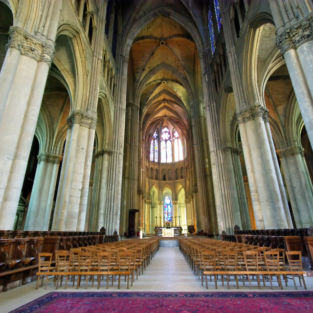 """Inside Notre Dame Cathedral"" stock image"