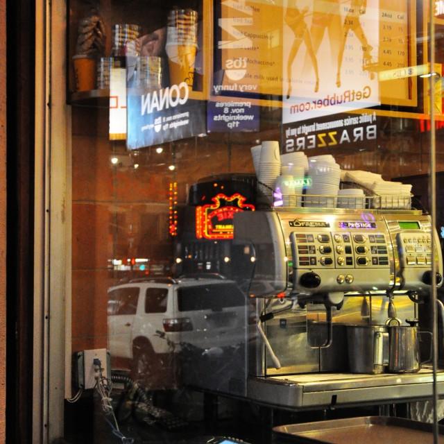 """Reflecting on Broadway"" stock image"