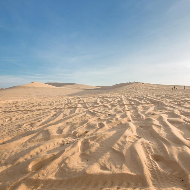 """""""White Sand Dune , Mui Ne , Vietnam"""" stock image"""