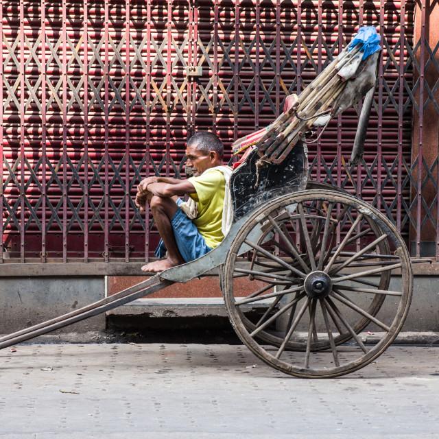 """""""Foot rickshaw"""" stock image"""