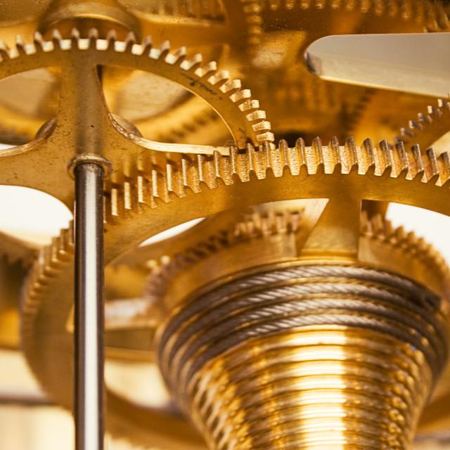 """Shiny Golden Clockwork"" stock image"