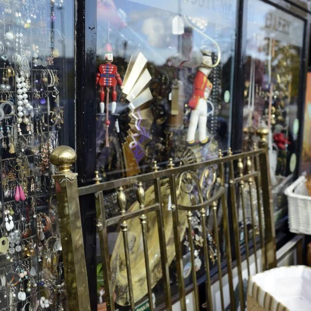 """Antique shop window"" stock image"