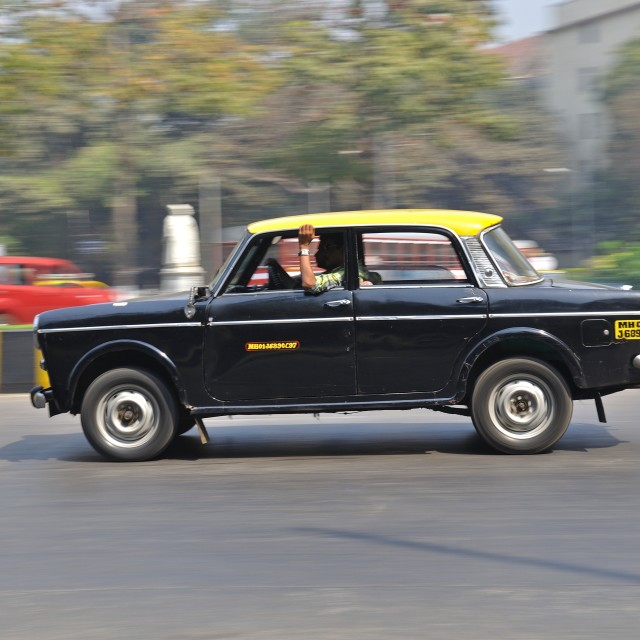 """""""Bombay Taxi"""" stock image"""