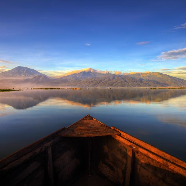 """Morning Blue"" stock image"