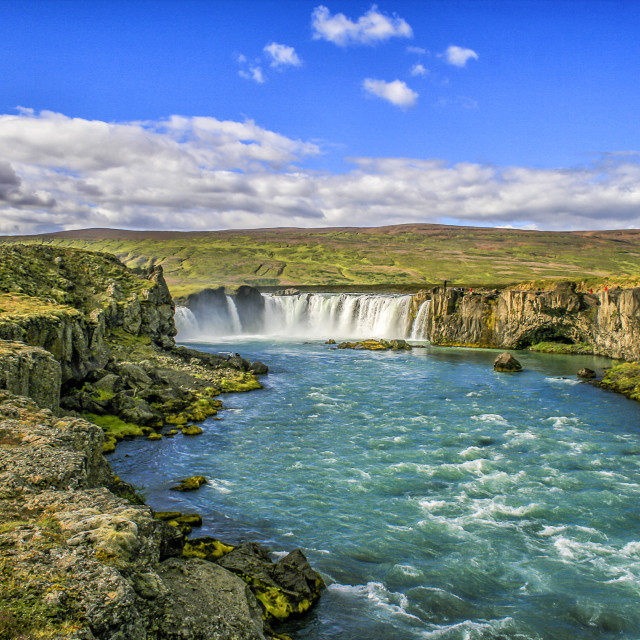 """Godafoss waterfall"" stock image"