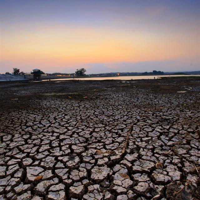 """""""Cengklik Reservoir"""" stock image"""