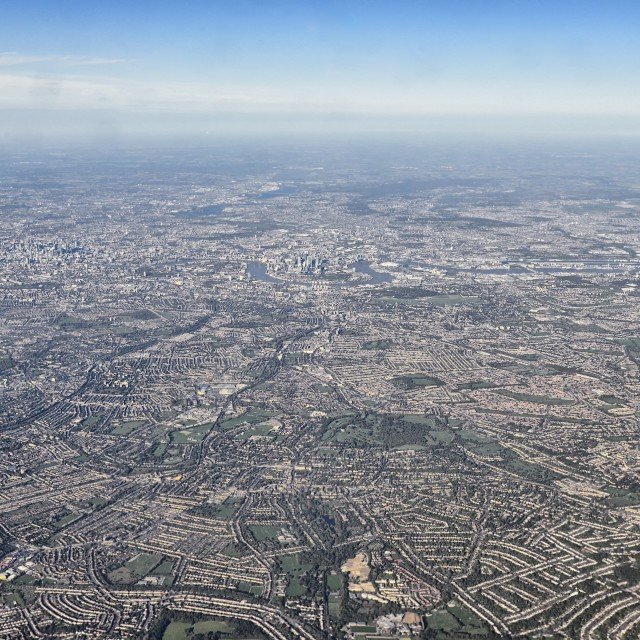 """London from above and afar"" stock image"