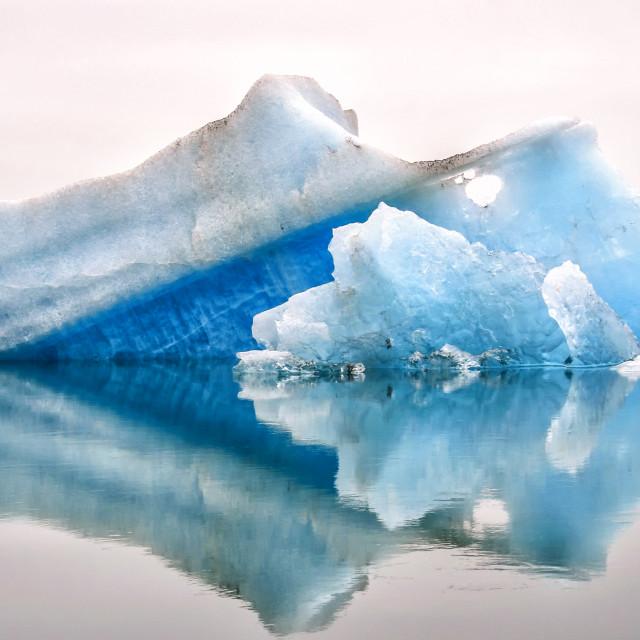 """Blue icebergs"" stock image"