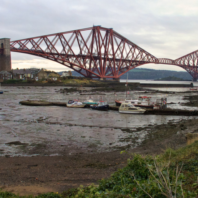 """Forth Rail Bridge, Queensferry, Scotland"" stock image"