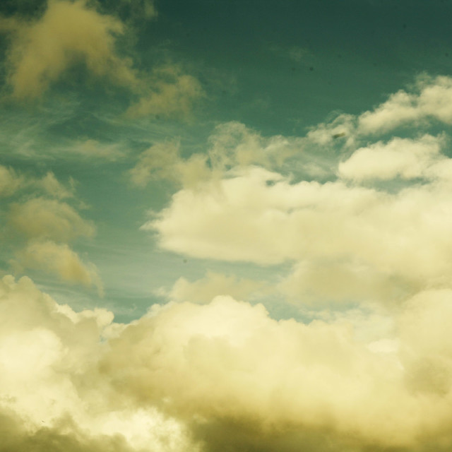 """""""Sky on atmospheric cold winter day clouds before storm"""" stock image"""