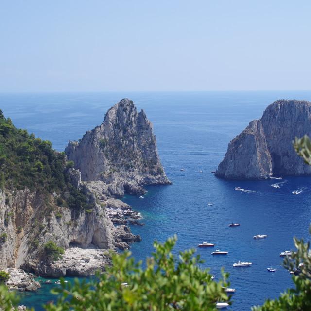 """Fraglioni Rocks, Capri"" stock image"