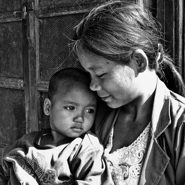 """""""MOTHER & CHILD"""" stock image"""