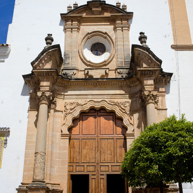 """Church of Incarnation in Marbella"" stock image"