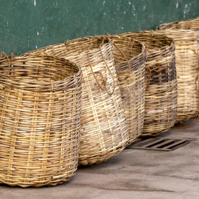 """Tea baskets"" stock image"