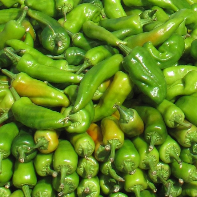 """Green Chillies"" stock image"