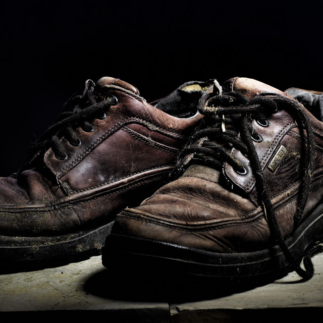 """Old shoes"" stock image"