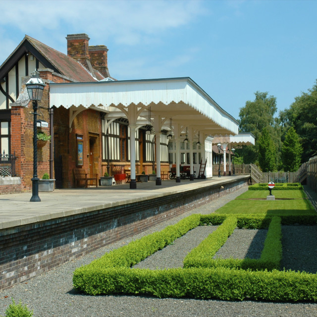 """Wolferton Preserved Railway Station"" stock image"