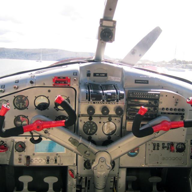 """""""Inside a De Havilland"""" stock image"""