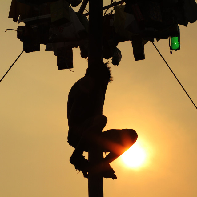 """""""The Sunset Winner"""" stock image"""